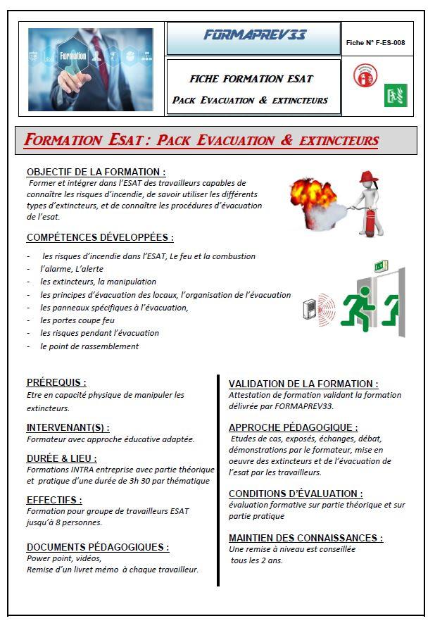 Esat evacuation et extincteurs